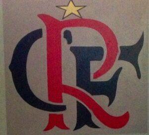 Detalhe do CRF pintado na parede de seu quarto em Luanda (Foto: Arquivo Pessoal)