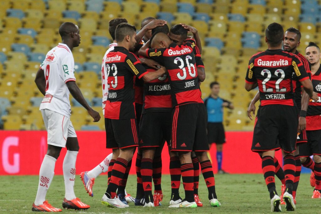 Flamengo vence Bangu no Maracanã (Foto: Gilvan de Souza-Flamengo)