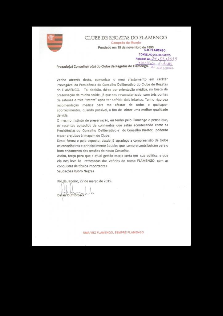 CARTA RENUNCIA PRESIDENTE CODE 27.03.2015