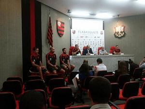 Em coletiva na Gávea, Flamengo comemora a volta do Final Four ao Rio