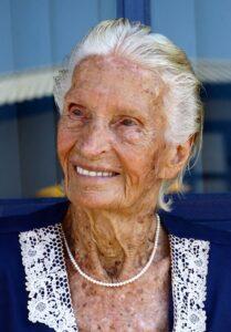 Maria Lenk em 2007 - Esporte e vida longa. (Foto: Sátiro Sodré)
