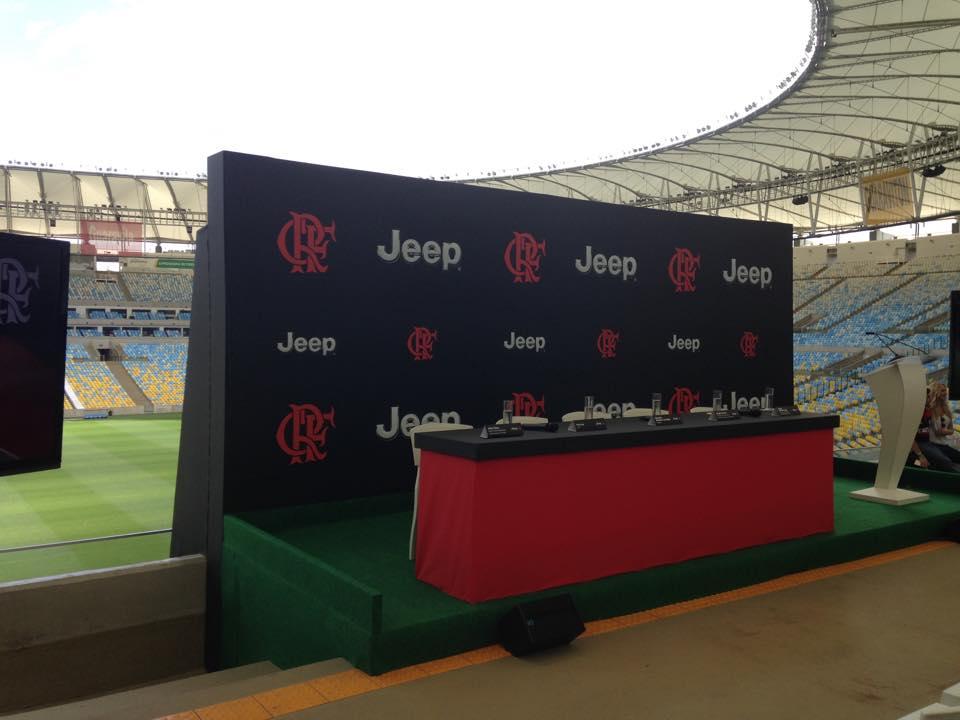 Em evento muito bem organizado no Maracanã,  Jeep e Flamengo selam parceria. (Foto: Luiza Sá - MRN)