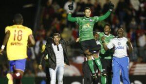 Flamengo enfrentará o Náutico. O time pernambucano não deu chance para zebra e eliminou a Jacuipense-BA do goleiro Edvando (Foto: http://www.jacuipense.com.br)