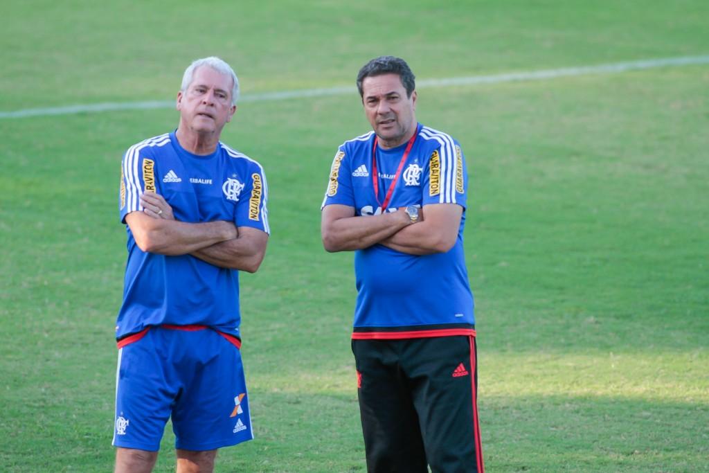 Luxemburgo durante o treino  (Foto: Flamengo Oficial - Gilvan de Souza)