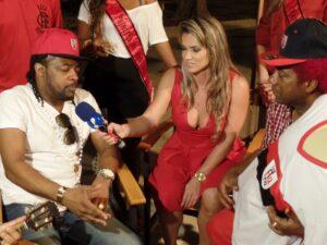 Xande de Pilares concedeu entrevista para um programa de  TV (Foto Divulgação)