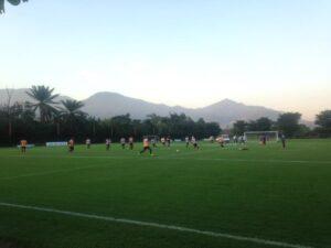 Jogadores participam do treino técnico dessa terça-feira no Ninho (Foto: Rafael Lisboa/ MRN Informação)