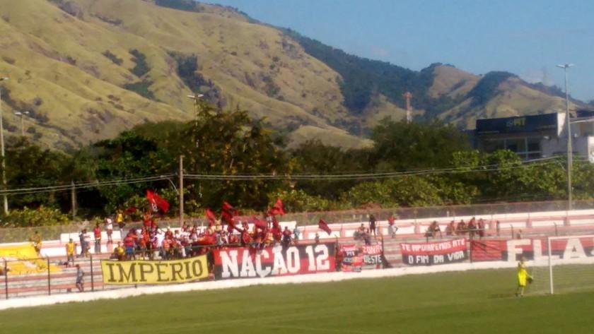 Torcedores do Flamengo fizeram a festa em Moça Bonita (Foto: Bruno Vasconcellos)