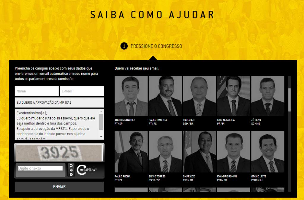 Neste site a torcida pode exercer seu direito de participação no processo (Clique)