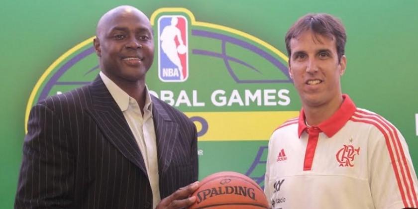 Horace Grant e Marcelinho Machado   Foto Flamengo