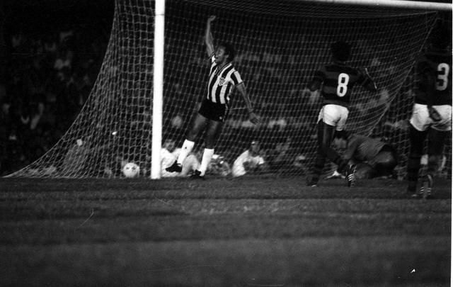 Reinaldo comemora o gol da vitória do Atlético na primeira partida da final | Foto Reprodução