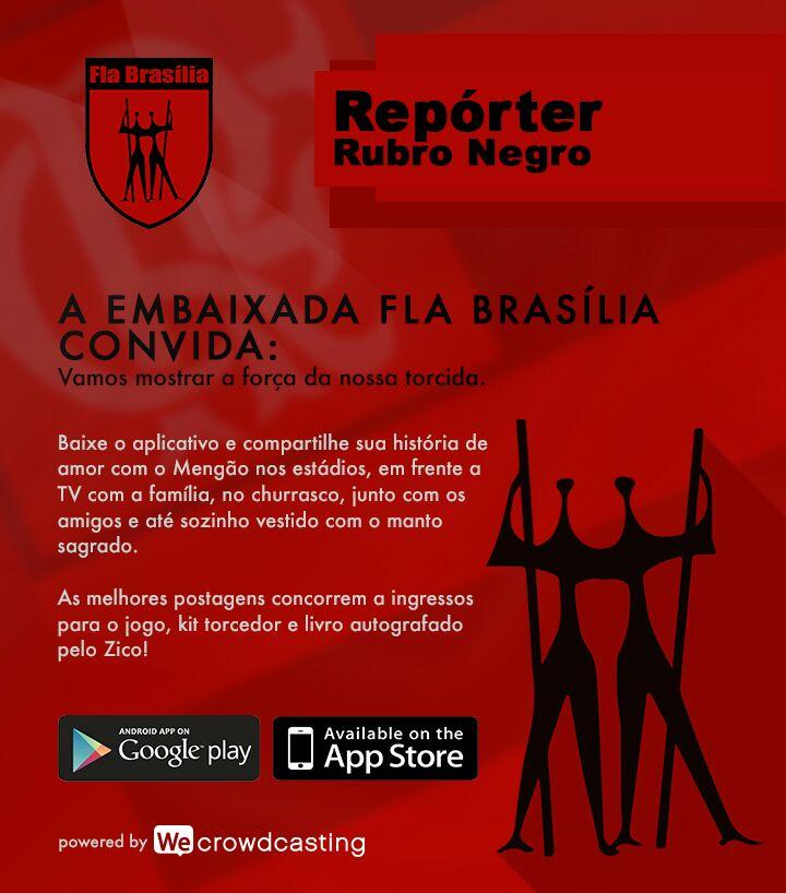 Aplicativo desenvolvido exclusivamente para torcedores do Flamengo: Melhores histórias ganham prêmios flamengásticos!