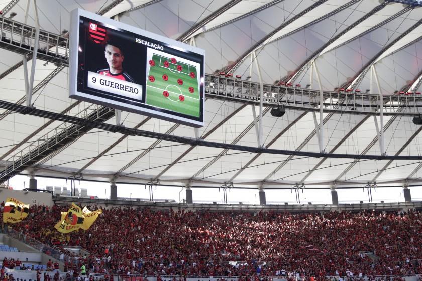 Flamengo x Santos: Torcida lotou o Maracanã e se decepcionou com o empate. Foto: Gilvan de Souza/Flamengo