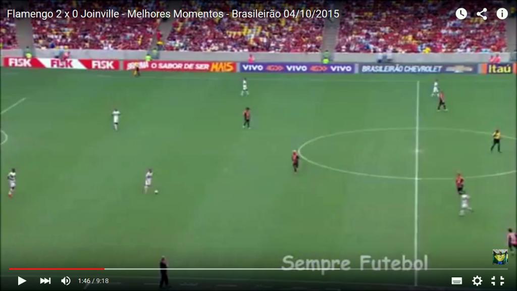 Observem a distância entre as linhas, jogadores do meio indo pro ataque ao invés de dar opção