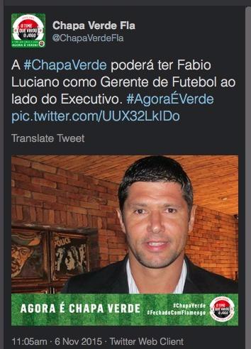 O debate sobre a necessidade de um Gerente com a especulação de Fabio Luciano para o cargo em 2016