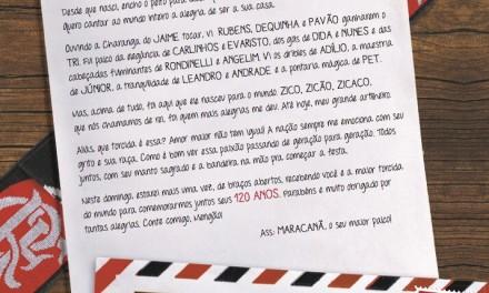 """Maracanã escreve """"carta"""" ao Flamengo e afirma orgulho de ser sua casa"""