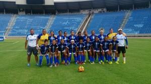 O time do Viana na estreia do Feminino 2015, em setembro. Foto: Divulgação