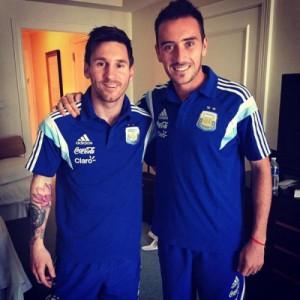 Lionel Messi e Mancuello após serem convocados pra seleção. (Foto: Reprodução)
