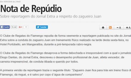 A imprensa não é digna do Flamengo que tem