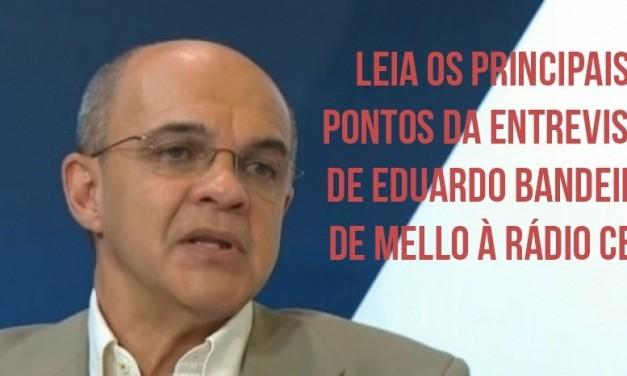 Em rádio carioca Bandeira de Mello fala sobre Maracanã, estádio próprio e até venda de jogadores