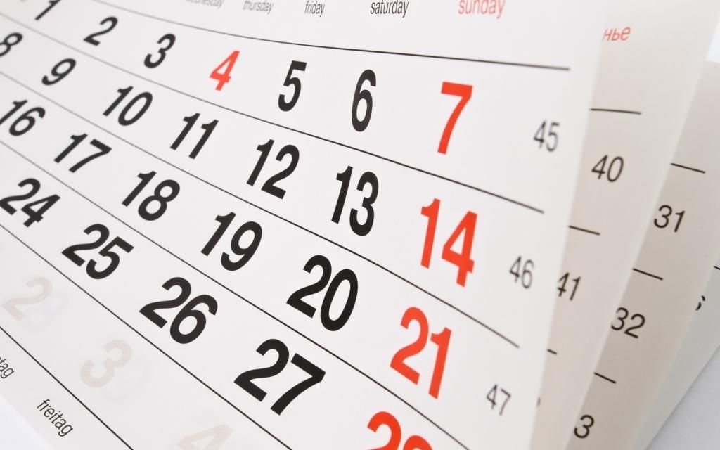Uma proposta de calendário