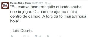 Tweet Léo Duarte