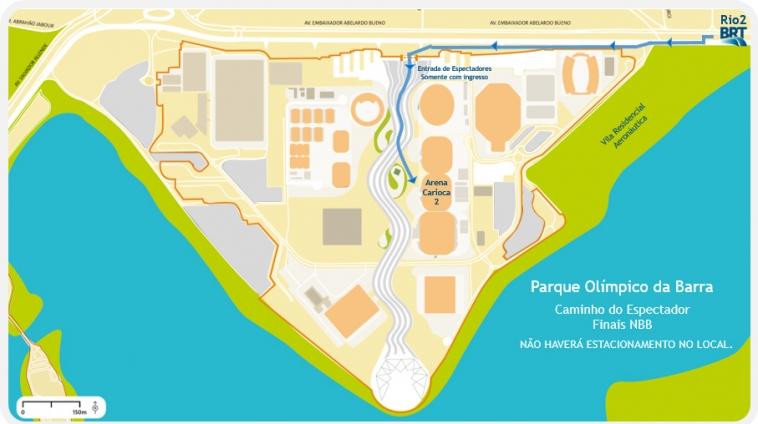 Mapa de como chegar à Arena (Foto: Divulgação)