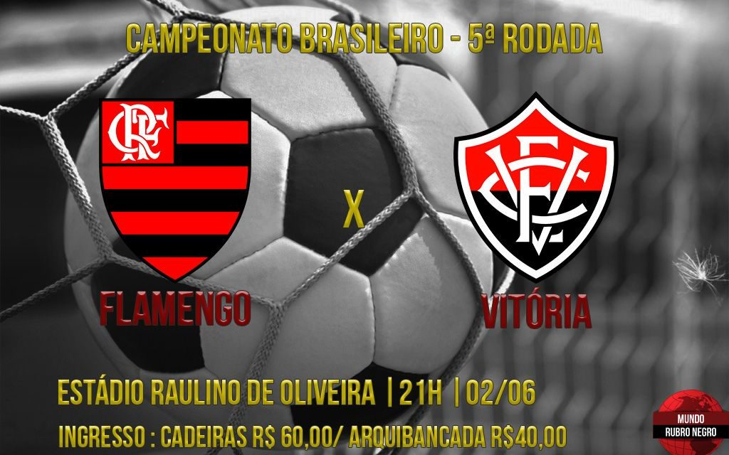 Depois de bom resultado fora, Flamengo recebe o Vitória em Volta Redonda