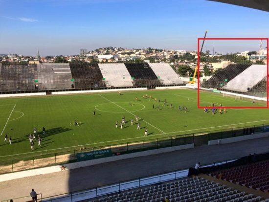 Torcida do Flamengo ficará localizada no Setor Sul, à direita das cabines de rádio e TV.