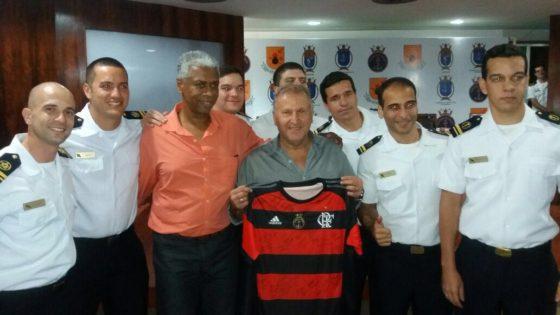 Zico participou de evento da Marinha nessa sexta-feira