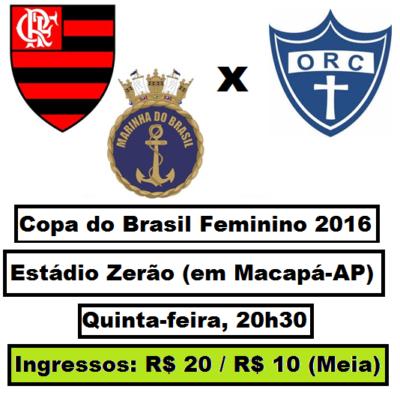 Jogando no Amapá, Fla/Marinha estreia na Copa do Brasil Feminino
