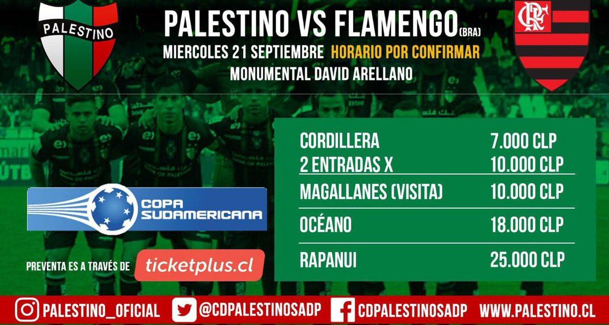 Ingressos – Palestino x Flamengo