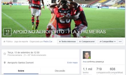 Torcedores organizam apoio gigante no embarque do Flamengo para o jogo contra o Palmeiras