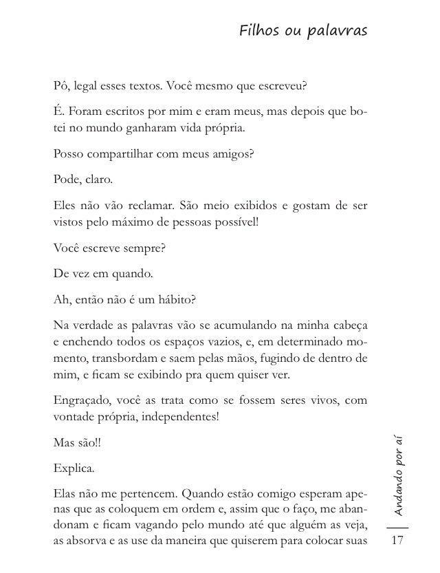 Crônica Fred Mourão Filhos ou Palavras