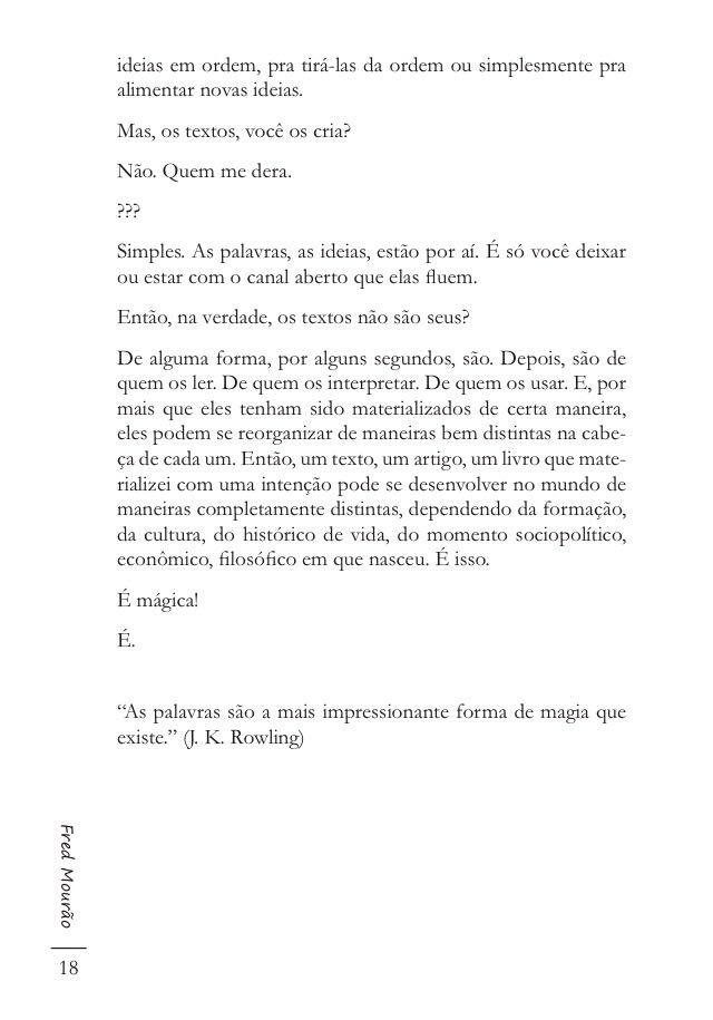 Crônica Fred Mourão Filhos ou Palavras2
