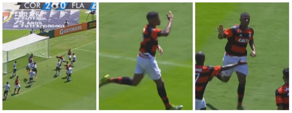 Sequência reproduzindo o importante gol de Trindade na final da Copa SP. Foto Reprodução YouTube