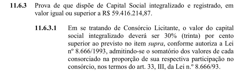 Edital do Maracanã exige capital social mínimo de R$ 59 milhões para empresas e R$ 77 milhões para consórcios