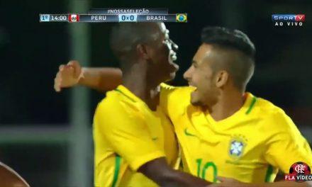 Vinicius Jr. e Lincoln brilham na estreia do Brasil sub-17