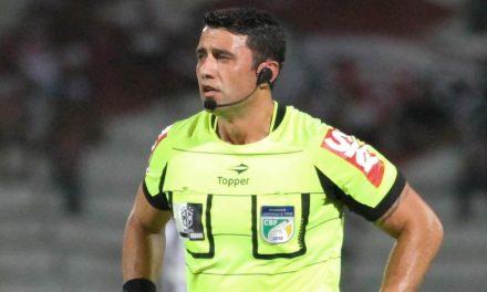 Árbitro catarinense apita Palmeiras e Flamengo