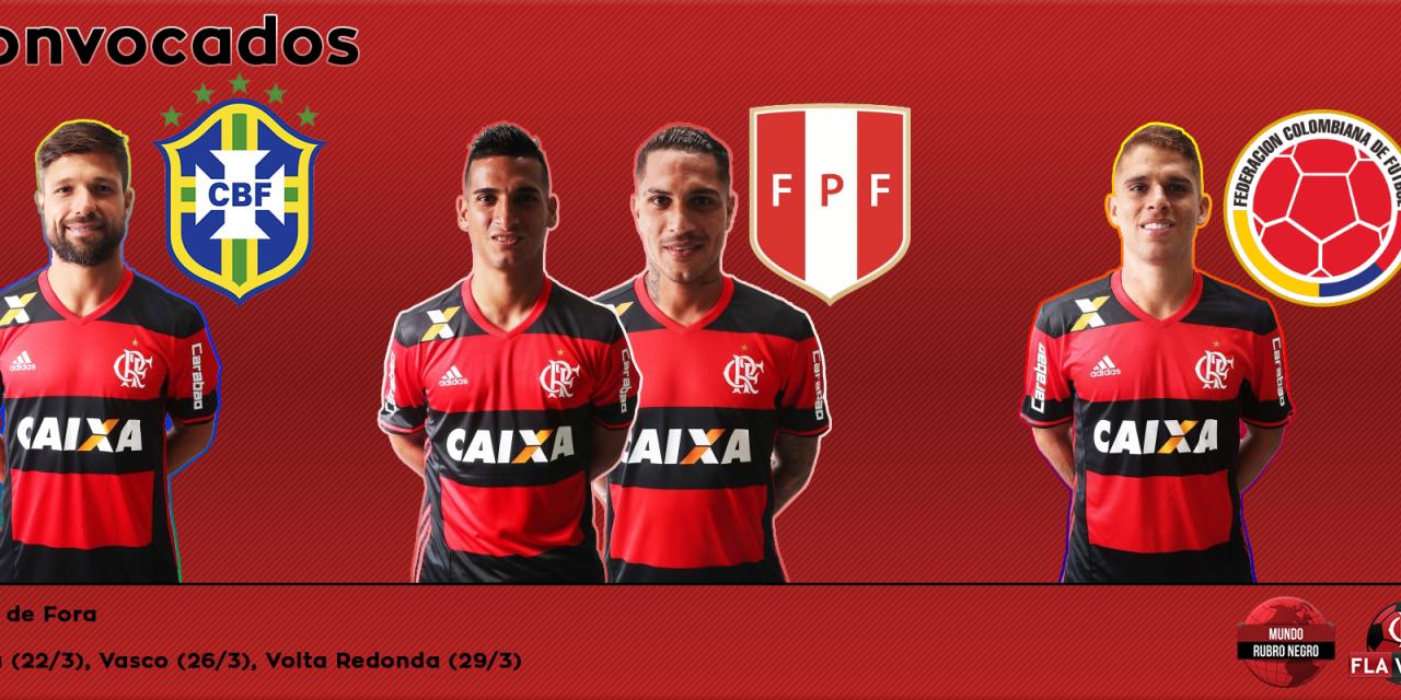 Flamengo tem 4 convocados para rodada das Eliminatórias