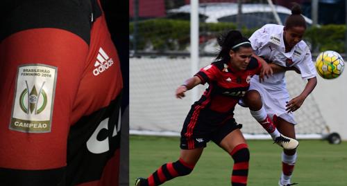 Patch do Brasileiro Feminino 2016 está presente no uniforme do Flamengo/Marinha