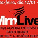 Programa MRN Live recebe nesta sexta o autor de livro sobre o Brasileiro de 87