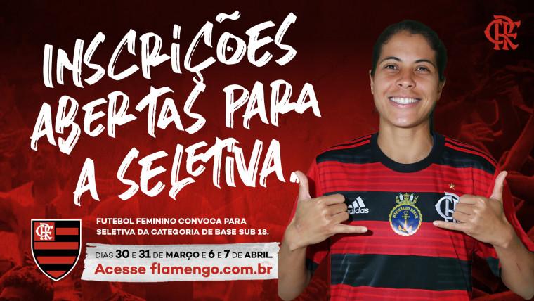 Seletiva – Futebol Feminino sub-18 do Flamengo