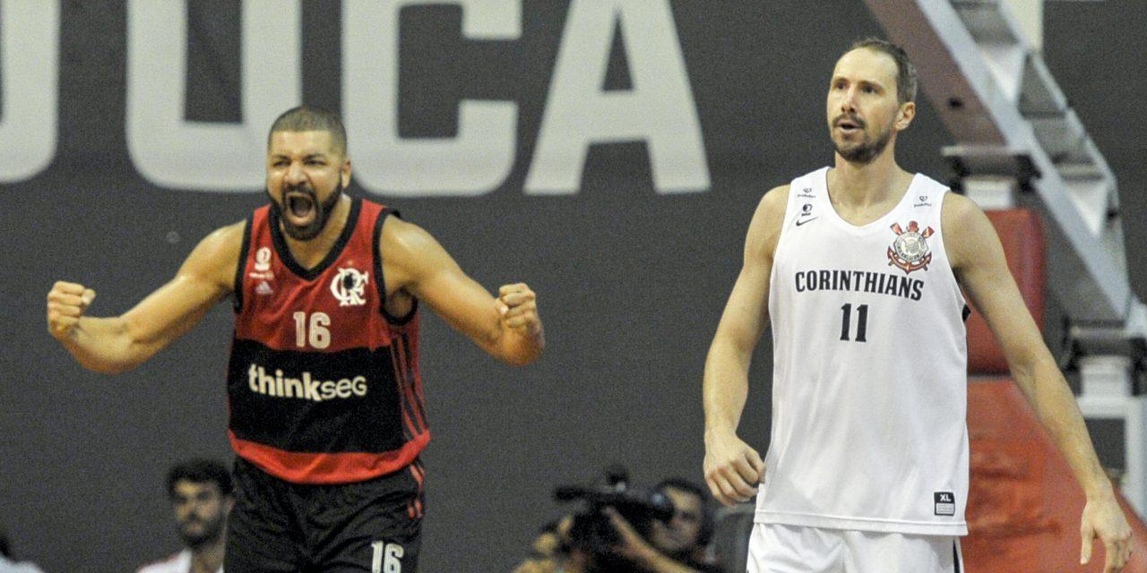 Flamengo vence o terceiro jogo da série, 'varre' o Corinthians e carimba vaga nas semifinais do NBB