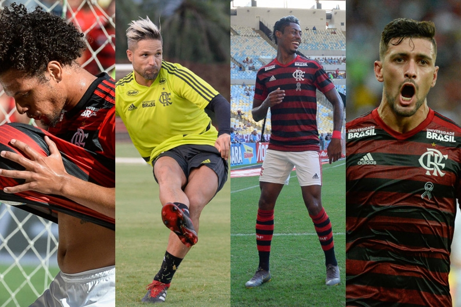 Peñarol chega ao Rio e lateral uruguaio elogia Arão, Diego, Bruno Henrique e Arrascaeta