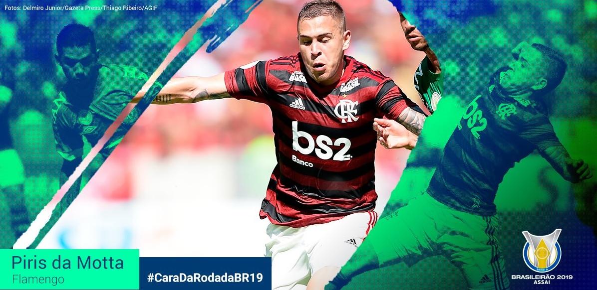 Em votação oficial do Brasileirão, Piris da Motta é eleito o craque da rodada