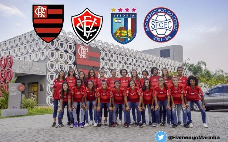 Flamengo enfrentará nordestinas na primeira fase do Brasileirão Feminino Sub-18